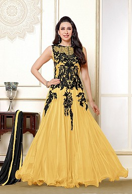 Karishma Yellow Black Anarkali Salwar Suit @ Rs1579.00