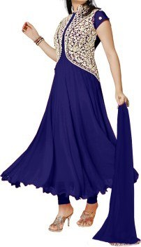 Beautifull Fancy blue With white Anarkali suit@ Rs.1162.00