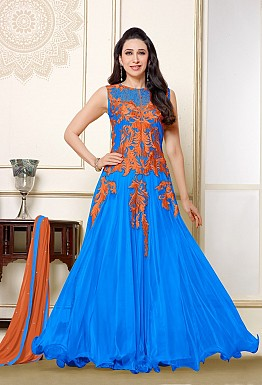 Karishma Light Blue Anarkali Salwar Suit @ Rs1579.00