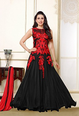 Karishma Red & Black Anarkali Salwar Suit @ Rs1579.00