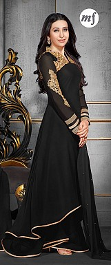 Karishma Black Plazo Style Anarkali Salwar Suit @ Rs1724.00