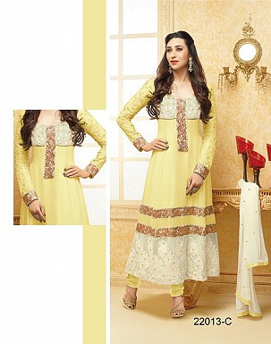 karishma yellow anarkali salwar suit @ Rs1579.00
