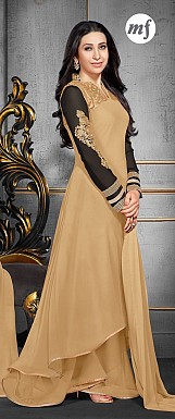 Karishma Cream Plazo Style Anarkali Salwar Suit @ Rs1724.00