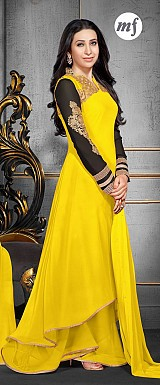Karishma Yellow Plazo Style Georgette Anarkali Salwar Suit @ Rs1724.00