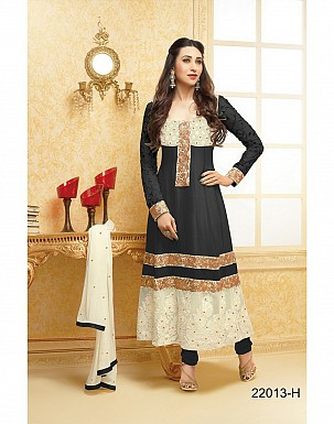 karishma black anarkali salwar suit @ Rs1579.00