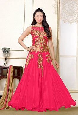 Karishma Pink Anarkali Salwar suit with Dupatta @ Rs1579.00