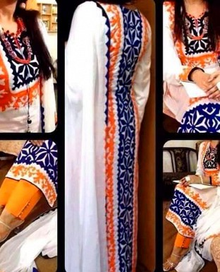 Embroidered Cotton Suit with Dupatta @ Rs1338.00