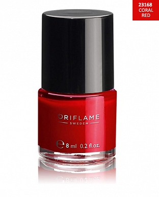 Oriflame Pure Colour Nail Polish - Coral Red 8ml @ Rs227.00