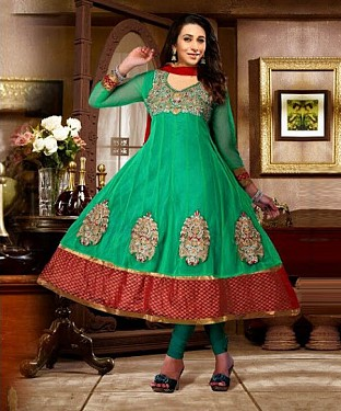 Anarkali Green georgette Suit@ Rs.1669.00