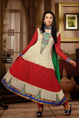 Anarkali cream georgette Suit@ Rs.1669.00