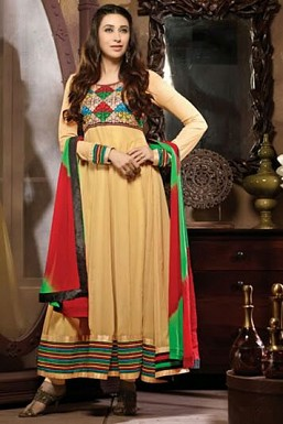 Anarkali beige georgette Suit @ Rs1669.00