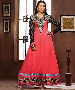 Anarkali peach georgette Suit@ Rs.1669.00