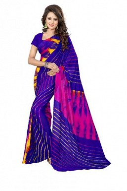 New Blue Printed Heavy Nazneen Casual Saree@ Rs.988.00