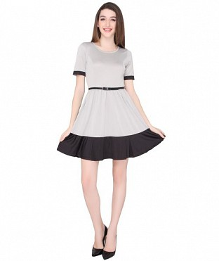 ELLIANA CURLY SKATER DRESS@ Rs.921.00