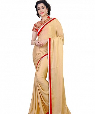 Beige Jacquard Georgette Bollywood saree @ Rs1149.00