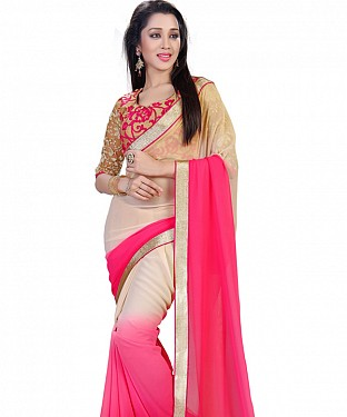 Beige Padding Georgette Bollywood Saree @ Rs1149.00