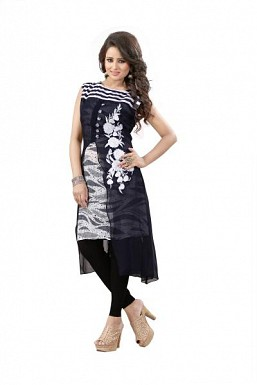 Panchi Blue Georgette Embroidered Stitched Kurti Buy Rs.754.00