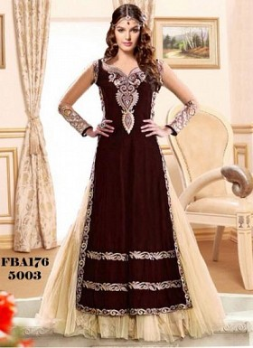 Fabboom Latest New Collection Maroon Long Salwar Suit@ Rs.1236.00