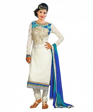 Latest White Salwar Suit@ Rs.1235.00