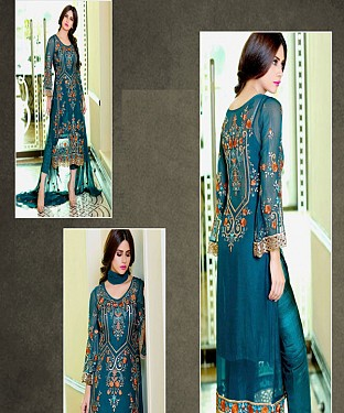 Sky Blue Colour Pakistani Long Dress Material @ Rs1359.00