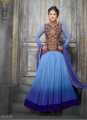Exclusive Designer Sky Anarkali Suits@ Rs.1236.00