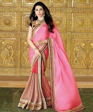 Karishma Kapoor In New Latest Designer Pink Lehengha Choli Saree@ Rs.3089.00