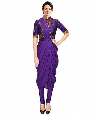 New Purple Colours Latest Arrival Designer Kurti @ Rs1112.00