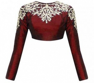 Latest Maroon Beautiful Designer Blouse@ Rs.617.00