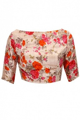 New Latest Multi Colour Floral Printed Designer Blouse @ Rs494.00