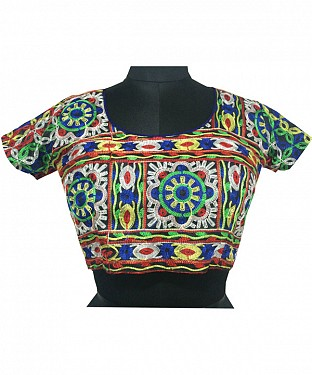 New Latest Multi Colour Floral Embroidered Designer Blouse@ Rs.370.00