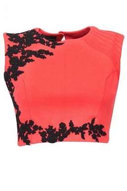 Orange Beautiful Embroidered Designer Unstitched Blouse @ Rs617.00