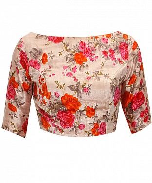 New Latest Multi Colour Floral Printed Designer Blouse @ Rs370.00
