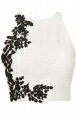 White Beautiful Embroidered Designer Unstitched Blouse @ Rs864.00