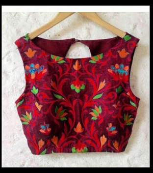 New Latest Maroon Embroidred Designer Unstitched Blouse @ Rs741.00