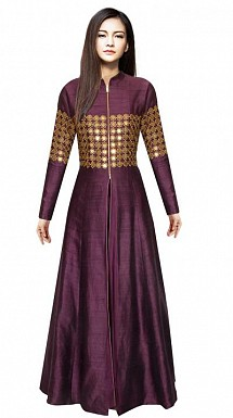 Outstanding Designer Dark Purple Gown @ Rs1359.00