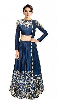 Latest Nevy Blue Beautiful Designer Lehenga Choli @ Rs988.00
