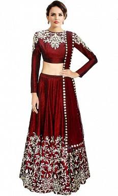 Latest Maroon Beautiful Designer Lehenga Choli@ Rs.988.00