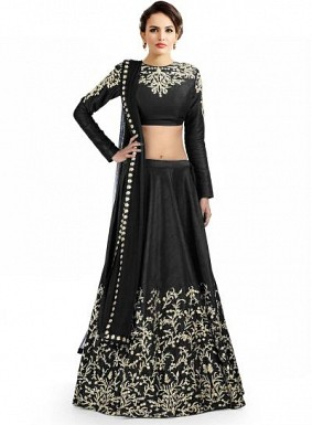 Latest Black Beautiful Designer Lehenga Choli@ Rs.988.00