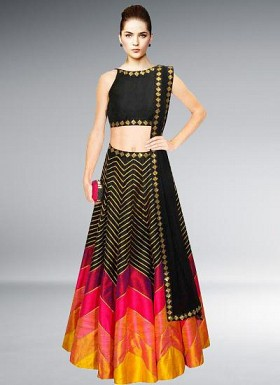 Special Black Marvellous Lehenga Choli @ Rs3089.00