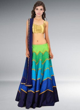 Special Multi-Color Designer Semi Stitched Lehenga Choli @ Rs3089.00