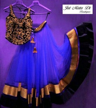 New Designer Blue Colour Lehnga Choli @ Rs988.00