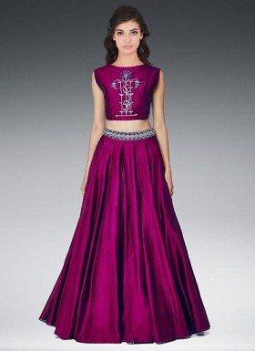 New Latest Special Purple Color Designer Lehenga Choli @ Rs1235.00