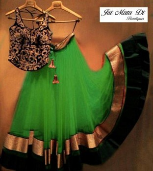 New Green Colour Embroidered Designer Lehenga Choli@ Rs.988.00