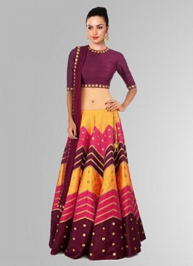 Latest Colourfull & Attractive For Special Navratri Collection Lahenga Choli Buy Rs.1669.00