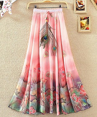 New Pink Colour Faux Georgette Womens Skirt@ Rs.1235.00