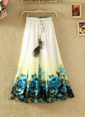 new latest  Multi designer printed skirts @ Rs1235.00
