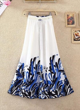 White Colour Digital Printed Women's Fancy Skirt@ Rs.1235.00