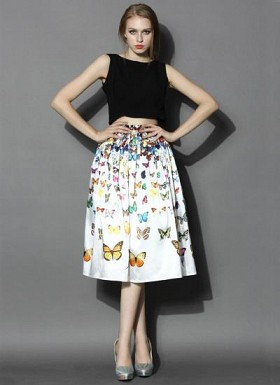 Butterfly Printed Fancy Women Skirt@ Rs.1235.00