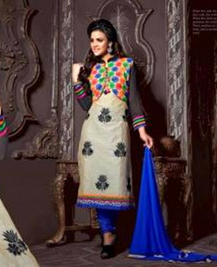 latest multi colour salwar suit @ Rs1051.00