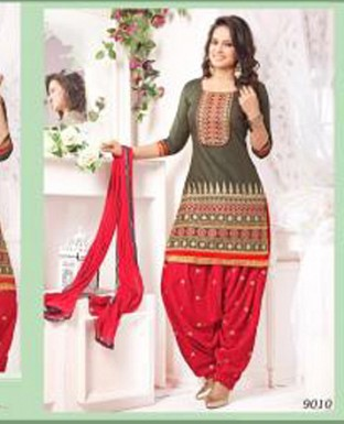 latest red colour patiyala suit @ Rs1422.00